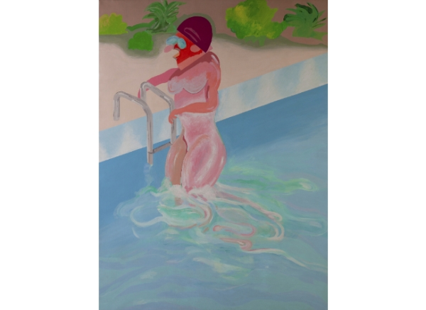 CARLOS ALCOLEA (La Coruña, 1949 - Madrid, 1992) Woman in pool, 1971
